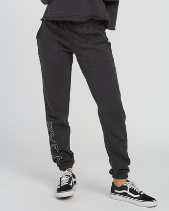 0 Pinner Fleece Sweat Pant Black W322SRPI RVCA