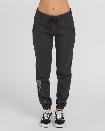 1 Pinner Fleece Sweat Pant Black W322SRPI RVCA