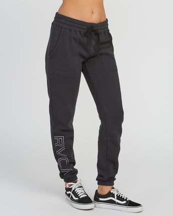 5 Pinner Fleece Sweat Pant Black W322SRPI RVCA