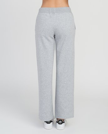 2 Stakeit Wide Leg Fleece Pant Grey W352SRST RVCA