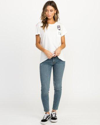 4 Michelle Blade Resist T-Shirt White W404QRRE RVCA