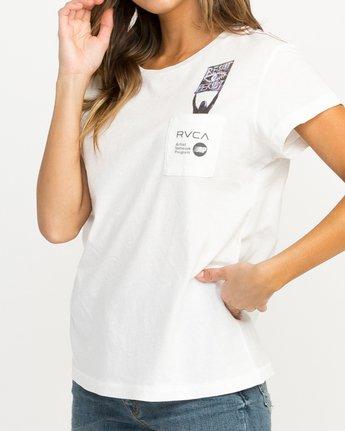 3 Michelle Blade Resist T-Shirt White W404QRRE RVCA