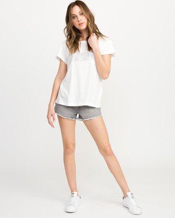4 Zig Print Pocket T-Shirt White W404QRZI RVCA