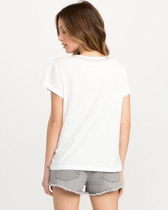 2 Zig Print Pocket T-Shirt White W404QRZI RVCA
