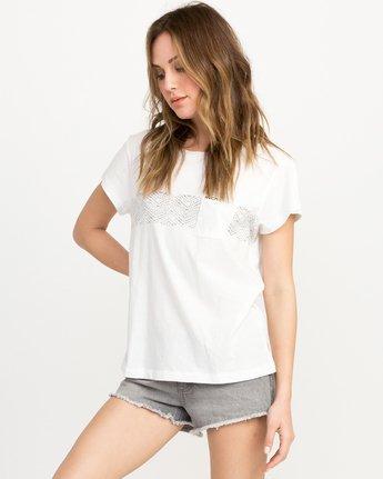 1 Zig Print Pocket T-Shirt White W404QRZI RVCA