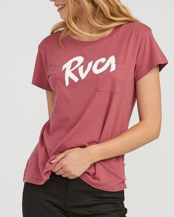 3 Marina Pocket T-Shirt Red W404SRMA RVCA