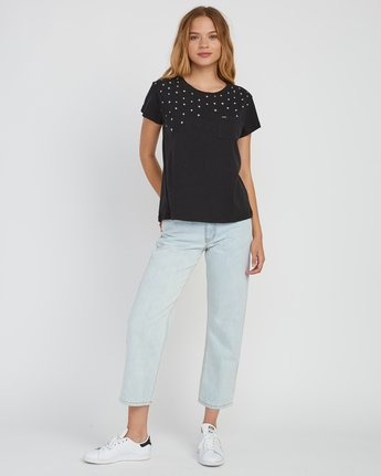 4 Stargaze Printed Pocket T-Shirt Black W404SRST RVCA
