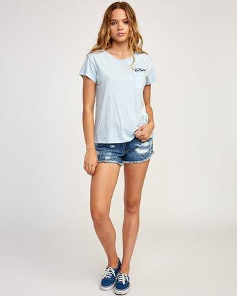4 Fast Script T-Shirt Blue W404TRFA RVCA