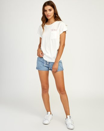 4 Fast Script T-Shirt White W404TRFA RVCA