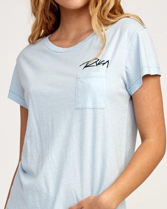 3 Fast Script T-Shirt Blue W404TRFA RVCA