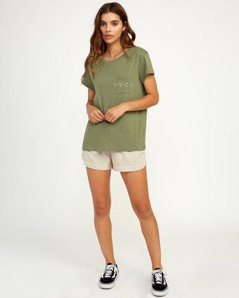 4 Inset T-Shirt Green W404TRIN RVCA