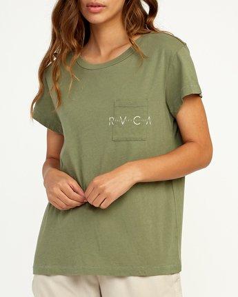 3 Inset T-Shirt Green W404TRIN RVCA