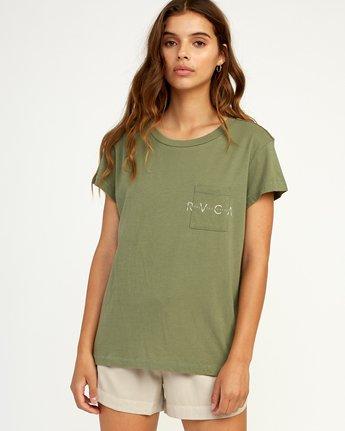 0 Inset T-Shirt Green W404TRIN RVCA