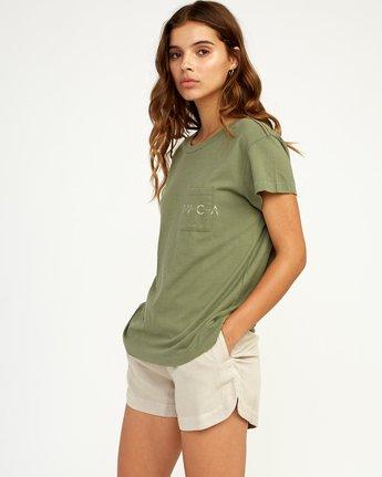 1 Inset T-Shirt Green W404TRIN RVCA