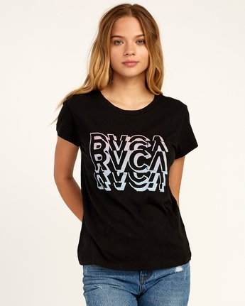 0 Static T-Shirt Black W404TRST RVCA