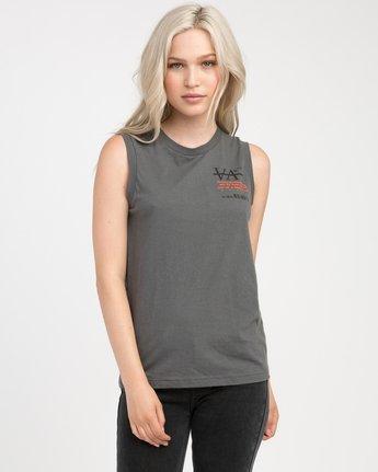 0 Displacement Sleeveless T-Shirt  W408NRDI RVCA