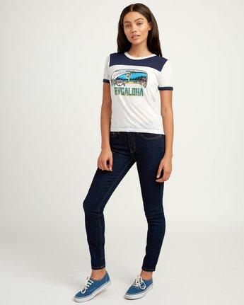 4 RVCAloha Dmote Ringer T-Shirt White W410QRDS RVCA