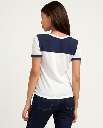 2 RVCAloha Dmote Ringer T-Shirt White W410QRDS RVCA