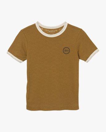 5 Pixel Script Burnout Ringer T-Shirt Yellow W410SRPI RVCA