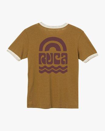 6 Rivey Era Burnout Ringer T-Shirt Yellow W410SRRI RVCA