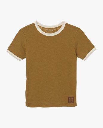 5 Rivey Era Burnout Ringer T-Shirt Yellow W410SRRI RVCA