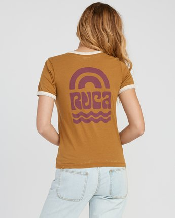 2 Rivey Era Burnout Ringer T-Shirt Yellow W410SRRI RVCA