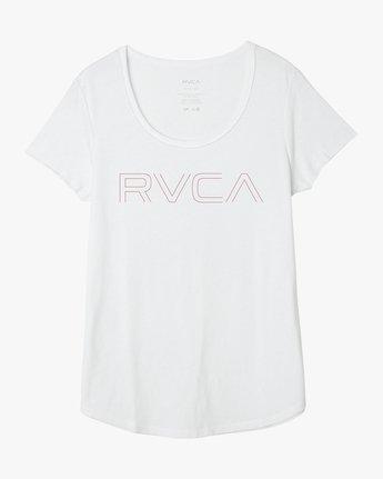 5 Pinner Scoop Neck T-Shirt White W417QRRV RVCA