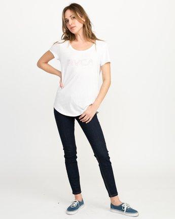 4 Pinner Scoop Neck T-Shirt White W417QRRV RVCA