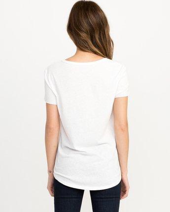 2 Pinner Scoop Neck T-Shirt White W417QRRV RVCA