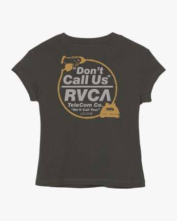 4 Don't Call Us Fitted T-Shirt Grey W419QRDO RVCA