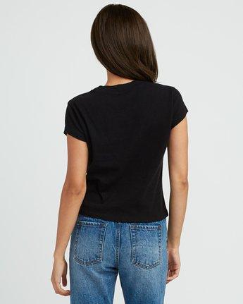 2 Gretta Fitted T-Shirt Black W419SRGR RVCA