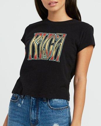 3 Gretta Fitted T-Shirt Black W419SRGR RVCA