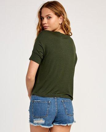 2 Postmark Drape T-Shirt Green W435TRPO RVCA