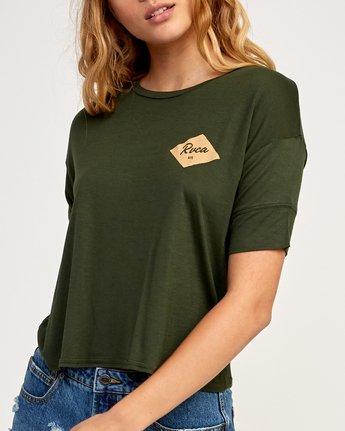 3 Postmark Drape T-Shirt Green W435TRPO RVCA
