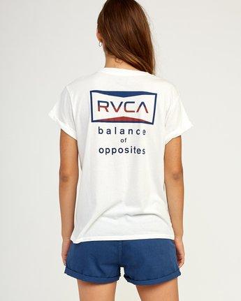 2 Balance T-Shirt White W436TRBA RVCA