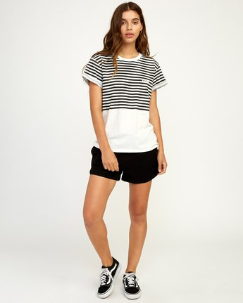 4 House Stripe T-Shirt White W436TRHO RVCA