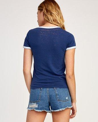 2 Double Vision Ringer T-Shirt Blue W437TRDO RVCA
