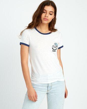 1 Alex Matus Coco Ringer T-Shirt White W437TRMS RVCA