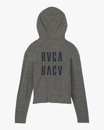 7 Mirror Hooded Long Sleeve Shirt Grey W454SRMI RVCA