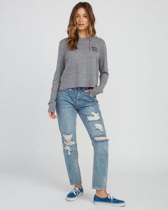 5 Mirror Hooded Long Sleeve Shirt Grey W454SRMI RVCA