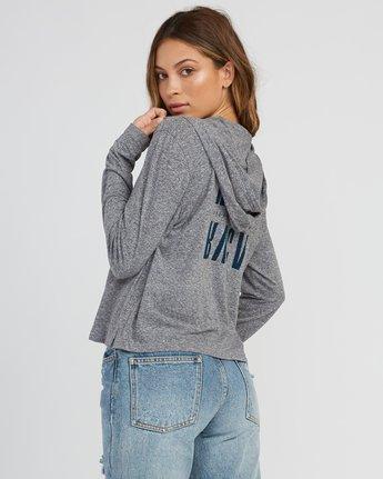 2 Mirror Hooded Long Sleeve Shirt Grey W454SRMI RVCA