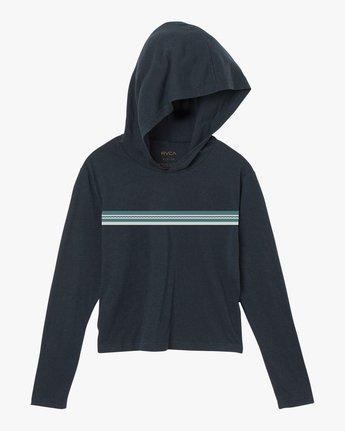 5 VA Stripe Hooded Long Sleeve Shirt  W454SRVA RVCA