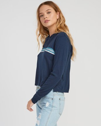 1 VA Stripe Hooded Long Sleeve Shirt  W454SRVA RVCA