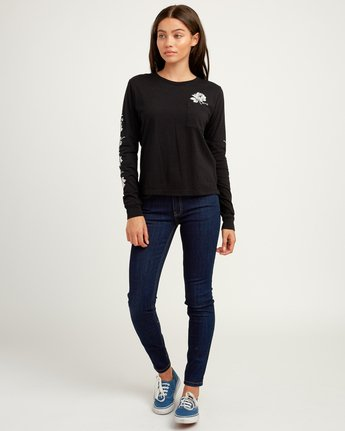 4 Oblow Roses Long Sleeve T-Shirt  W456QROS RVCA