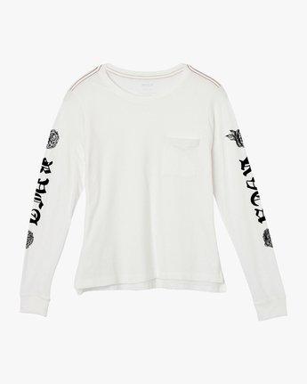 5 JeanJean Rose & Roses Long Sleeve T-Shirt White W456QRRO RVCA