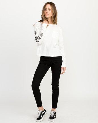 4 JeanJean Rose & Roses Long Sleeve T-Shirt White W456QRRO RVCA