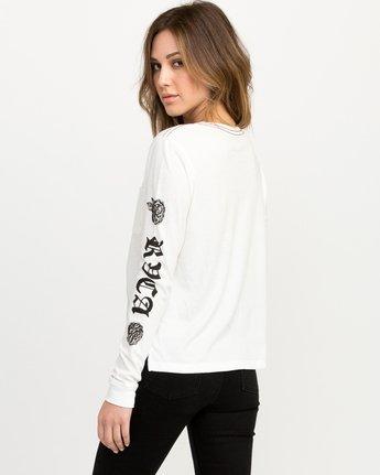 2 JeanJean Rose & Roses Long Sleeve T-Shirt White W456QRRO RVCA