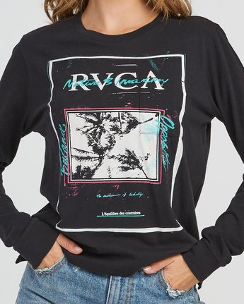 3 Balance Flyer Long Sleeve T-Shirt Black W456SRBA RVCA