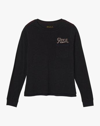 3 Maryweather Long Sleeve T-Shirt Black W456SRMA RVCA