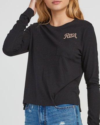 2 Maryweather Long Sleeve T-Shirt Black W456SRMA RVCA